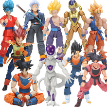 13-17cm S.H.Figuarts God Super Saiyan Son Goku Vegetto Vegeta Trunks PVC Action Figures SH Figures Dragon Ball Z Model Dolls Toy(China)