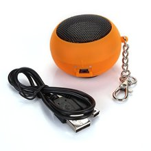 Portable Electrical/orange DK - 601 Mini speaker with key chain and data cables(China)