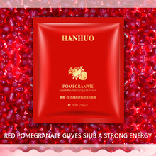 HanHuo Pomegranate Fresh Revitalizing and Deepsea Moisturizing Refining Silk Mask For Face Skin Care Facial Mask Plant Essence