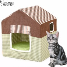 All Seasons Pet Indoor/Outdoor Kennels Kitten House Bed with Cushion Kittey Cozy Cave Shelter Great for Dogs, Cats and Rabbits(China)