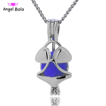 Angel Bola Jewelry Yoga Aromatherapy Essential Oils Surgical Perfume Diffuser Locket Necklace Drop Shipping L170
