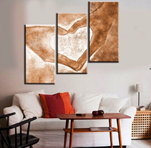 Hand Painted 3pcs Modern Abstract Oil Paintings Love Heart Drawing Canvas Art a08