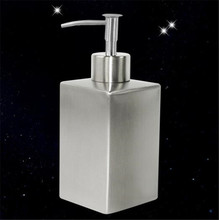 350ML Bathroom supplies stainless steel Square soap dispenser lotion hand sanitizer bottle Liquid Soap Dispensers