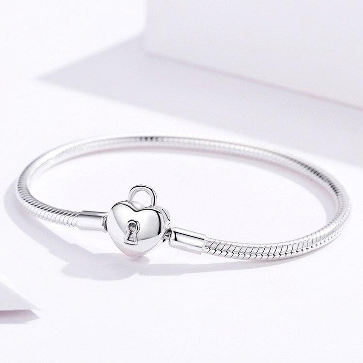 bracelet charm cadenas tendance glamour