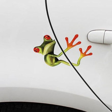 High Quality 3D Hug Frog Funny Car Stickers Truck Window Decal Graphics Sticker Free Shipping @025(China)