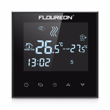 Floureon LCD Touch Screen Thermostat Warm Floor Heating System Thermoregulator AC200-240V Temperature Controller Blue Backlight(China)