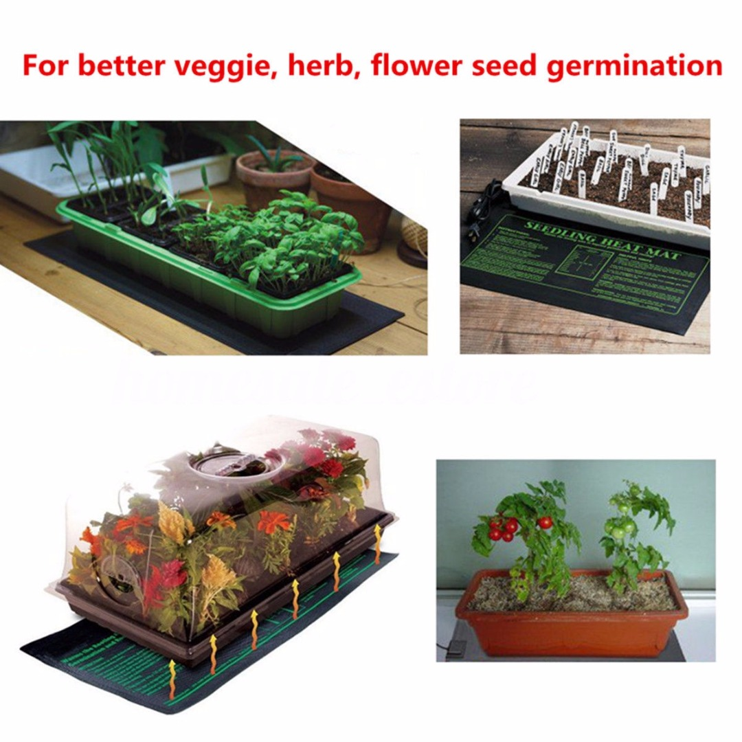 1pc 20x10\'\' Seedling Heating Mat Waterproof Plant Seed Germination Propagation Clone Starter Pad for Garden Supplies