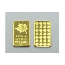 Collectible 1 Troy OZ 100 Mill 999 Gold Bullion Canada Maple leaves Challenge Bars