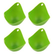 4pcs Silicone Egg Steamer Boiler Cookware Cups Poaching Pods / Baking Mold Cups