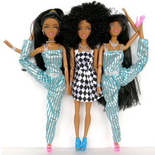 New cheap plastic Dolls Factory Direct selling Series Black Long hair special price Black skin high doll Wildcurl up Long legged(China)