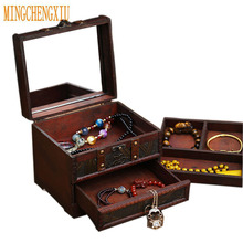MINGCHENGHIU Large Drawer Type Boxes and Storage Containers Storage Box Gift Vintage Treasure Chest Pirate Holder Case Jewelry