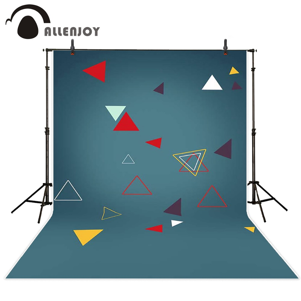 Allenjoy Photography background Color triangle pattern blue background newborn princess vinyl fabric backdrops<br><br>Aliexpress