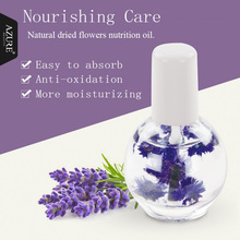 Azure Beauty 1 Pcs Cuticle Care Oil Nail Treatment Nutritious Polish 15ml Dry Flower Nourishment Oil For Nail Skin Care Oil(China)