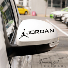 Car Stickers Basketball Air Micheal Jordan Creative Decals Rearview Mirrors Auto Tuning Styling Vinyls 15x4cm Duad D11