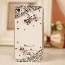 HOT 1PC Bulk Novelty Luxury 3D Crystal Dragonfly Bling Diamond Case For iPhone 3 3G 3S Retail Package Accessory