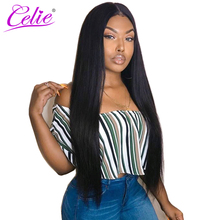 Celie Hair Peruvian Virgin Hair Bundles 100% Unprocessed Human Hair Weave Extensions Natural Black Color Straight Hair Bundles