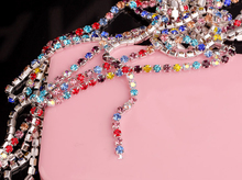 1.8 yards/Pack 6SS/2mm SILVER  Metal Base Densify Claw Colored Crystal Rhinestone Cup Chain Trimming DIY Necklace F1332B