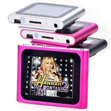 In Stock 6th Gen 1.8 inch LCD Screen MP3 MP4 Player FM Radio Games Video Movie Player+Earphone+ USB Cable Free Shipping(China)