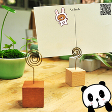 1 Pics Kawaii Memo Pincer Clips Paper Office Supplies Accessories Wooden Photo Clip Holder Wooden Small Clamps Stand