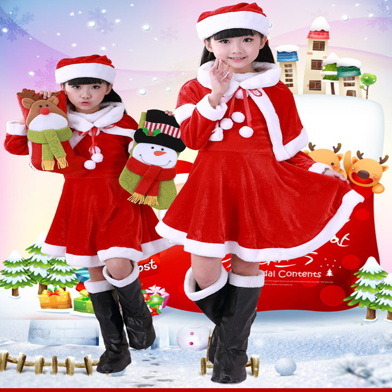 Christmas Boys And Girls Clothing Sets Christmas Clother  Gold Velvet Christmas Dress Performance Clothing Costumes<br><br>Aliexpress