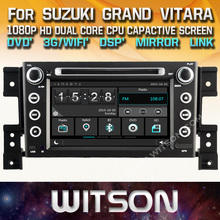 WITSON car radio dvd gps for SUZUKI GRAND VITARA 2005-2012 car audio with Capacitive Screen 1080P DSP WiFi/3G/DVR (optional)(China)