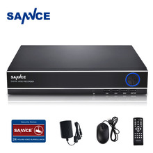 SANNCE CCTV 4 Channel DVR Recording HDMI 1080P P2P Standalone H.264 Hybrid dvr NVR Video Recorder for Surveillance Camera System