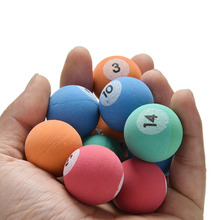 10 Pcs/lot 32mm Candy Colors High Bounce Balls Child Kid Billiards Ball Toy Outdoor Fun Sport Outdoor Sports Toys