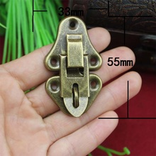 Vintage Metal Jewelry Chest Box Gift Box Suitcase Case Buckles Toggle Hasp Latch Catch Clasp Furniture Hardware,55*33mm(China)