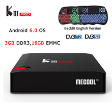 Buy KIII Pro Android 6.0 TV Box DVB-S2&DVB-T2 Amlogic S912 Octa core 3GB/16GB Wifi BT4.0 Media Player KIIIPro+i8 Backlight Keyboard for $149.00 in AliExpress store