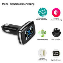 TP620 Professional Wireless Smart TPMS 12V Real Time Digital Tire Pressure Monitoring System Tire Pressure Alarm Car Charger