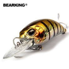 Retail hot model A+ fishing lure BearKing new crank 65mm&16g 5color for choose dive 10-12ft,2.8-3.2m fishing tackle hard bait(China)