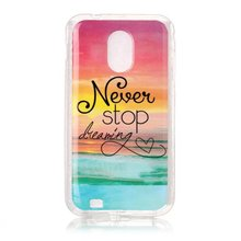 Transparent Clear Side Cute IMD pattern Soft Gel TPU back cover case for Samsung Galaxy S2 Epic 4G Touch D710 Galaxy SII