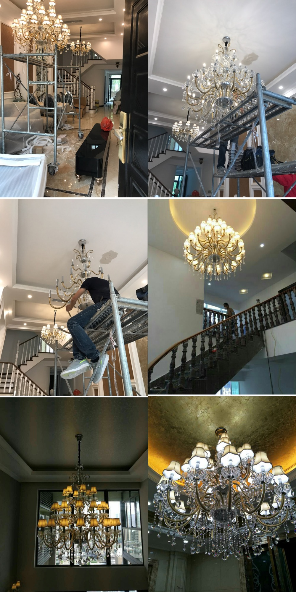 Luxury Large Chandelier Modern Sanctuary Hall Chandeliers With Shade