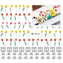 3pcs/lot Daisy Tulip Cherry Blossom DIY Nair Art Water Transfer Foils Nail Art Sticker Flower Decal Minx Nail Tool Nail Salon