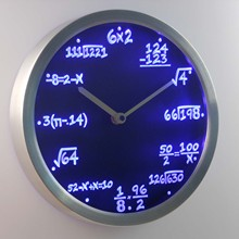 nc0461 Math Class Algebra Formula Mathematics Teacher gift Neon LED Wall Clock(China)