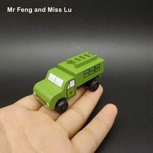 Model Car Mini Wooden Toy Truck Military Game Kid(China)