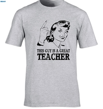 GILDAN Teacher T-Shirt Gift Idea Unique Design Job T-Shirt Funny Tutor T-Shirt Maths Man Fashion Round Collar T Shirt Base Shirt(China)