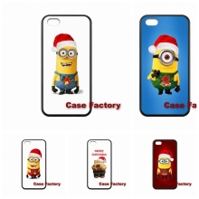 For Moto X1 X2 G1 G2 Razr D1 D3 HTC One X S M7 M8 mini M9 Plus Desire 820 Samsung Yellow Minions Celebrate Christmas Case Cover