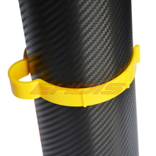 Car Decal Auto Film Roll clip hoop 8cm Yellow Pvc Car Wrap Sticker Clamp Vinyl Film Sheet Clip Fastener Roll Clamp Ring CN040S(China)