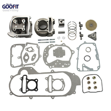 GOOFIT motorcycles Big Bore 50mm Cylinder Rebuild Kit Gy6 50cc 139qmb Racing Scooter Parts 64mm Valve Group-11(China)
