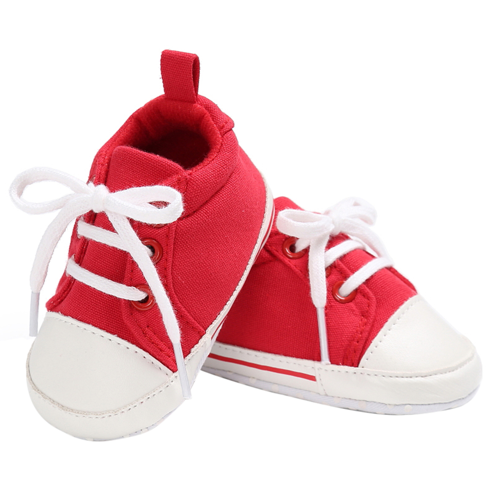 Spring Summer Newborn Canvas Shoes Sneaker Fashion 0-18 Month Baby Girls Boys Solid Soft Sole Shoes Prewalker First Walkers 11