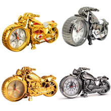 Motorcycle Alarm Clock Shape Creative Retro Gifts Upscale Furnishings Boutique Home Decorator(China)