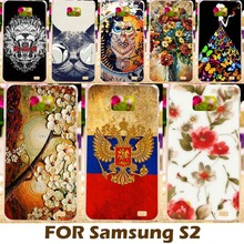 AKABEILA DIY Painting design Hard Plastic Case For Samsung I9100 Galaxy S II I9100G i9108 i9100p SII S2 GT-I9100 Phone Cover