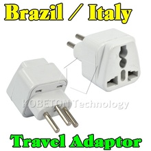 Portable Wall Charger EU AU US UK to Brazil Italy Universal 3 Round Pin Home Household Travel Adapter AC Power Plug Converter