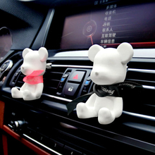Cartoon Crystal porcelain Car  Air Freshener Bear Air Conditioning Vent Car Air Cleaner Fragrance Auto Accessories Car-styling