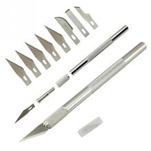 9 Blades Wood Carving Tools Fruit Food Craft Sculpture Engraving Knife Scalpel DIY Cutting Tool Repair
