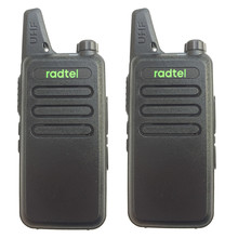 2pcs RADTEL RT-10 UHF 400-470 MHz MINI handheld transceiver two way Ham Radio Station talk WLN KD-C1 Walkie Talkie  handy talky