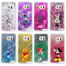 Para samsung galaxy note 5 case glitter estrela líquido cheshire cat cartoon characters voltar hard cover case