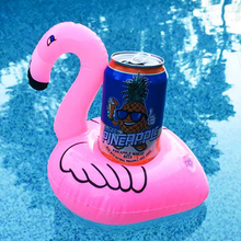 Inflatable Drink Cup Holders Mini Flamingo Unicorn Christmas Home Decoration Wedding Birthday Party Supply Swimming Pool Toys