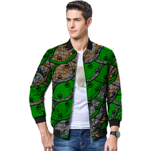 Customized festival colour african men baseball jacket africa print print stand collar dashiki coat patchwork african clothes